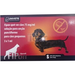 Fipon spot on cães até 10 kg (3 Pipetas)