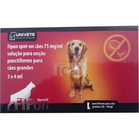 Fipon spot on cães de 20-40 kg (3 Pipetas)