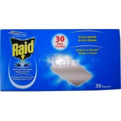 Raid pastilhas para difusor elétrico 30 Noites