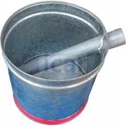 Balde em zinco para águas paradas