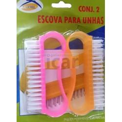 Conjunto de 2 escovas limpar unhas
