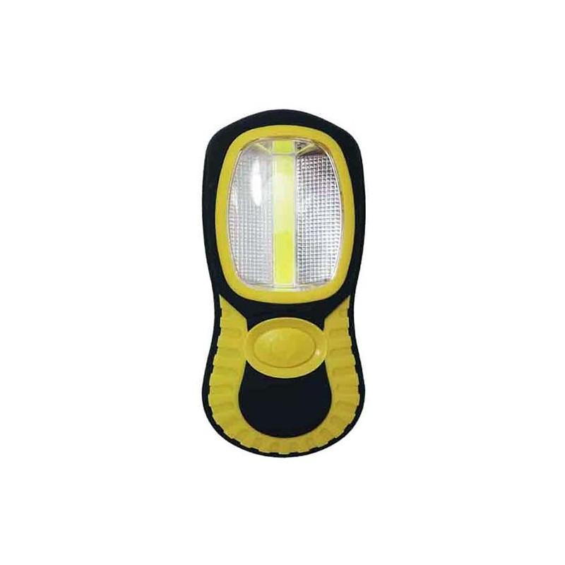 Lanterna Cob XL dupla função 1 led 3w e 3 Leds 1w com gancho e iman