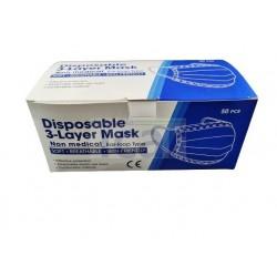 Mascaras protecao 3 camadas - 50 Unidades