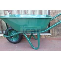 Carrinho de mão verde roda pneumática