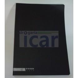 Caderno A4 capa preta 80fls.