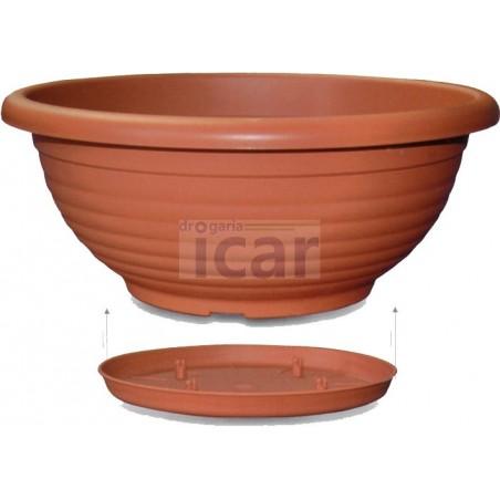Floreira redonda 35 c/ prato
