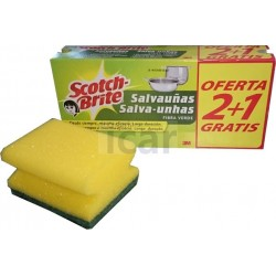 Scotch Brite Esponja Salva Unhas 2 +1